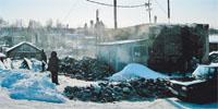 Деревня замерзла, и фотоаппарат тоже
